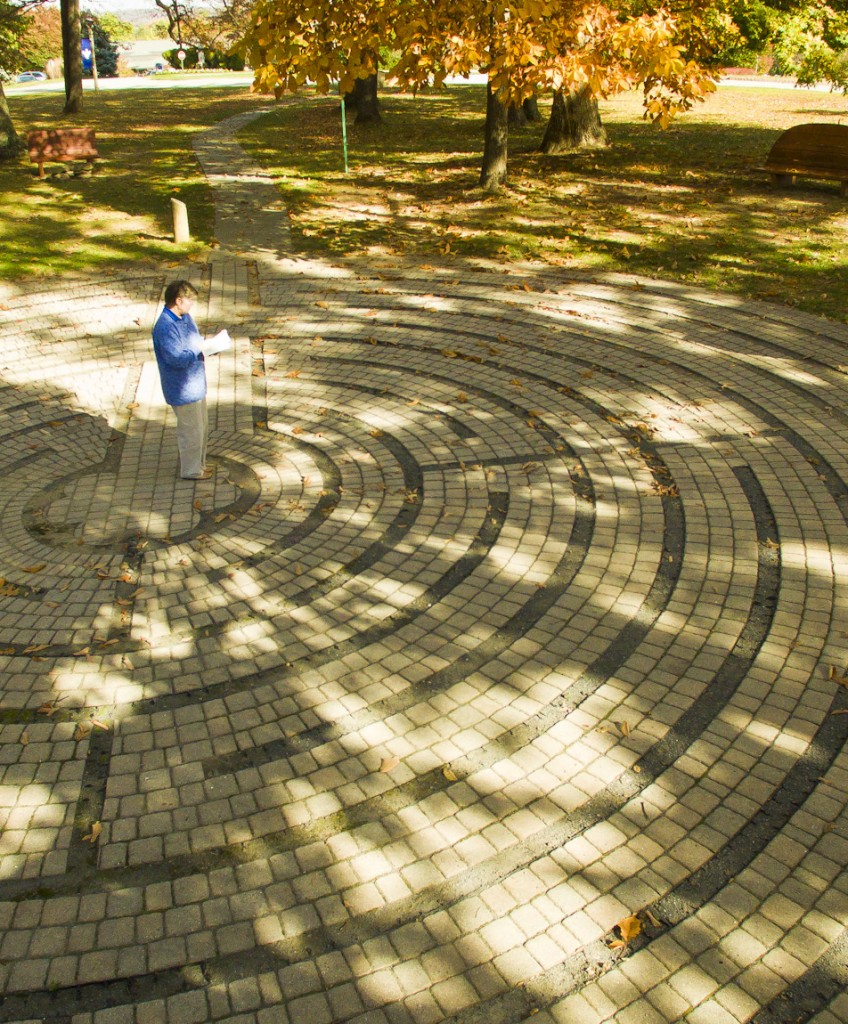 walk the labyrinth, large outdoor labyrinth