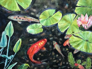 Fish and Lily Pads by Linda Culp