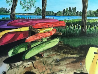 kayak painting