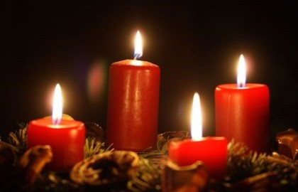 Advent candles, 4th week of advent